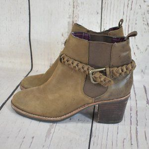 Sperry  Brown Leather Booties Sz 6.5